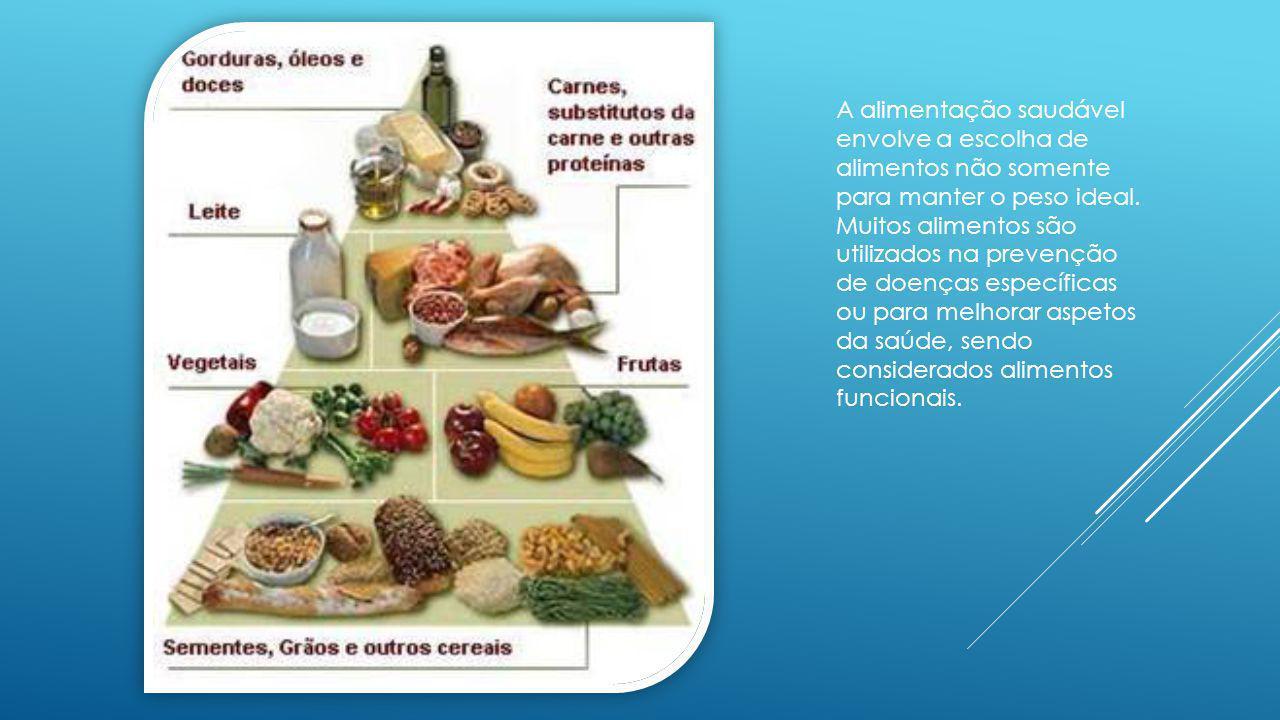 A alimentação saudável envolve a escolha de alimentos não somente para manter o peso ideal. Muitos alimentos são utilizados na prevenção de doenças es