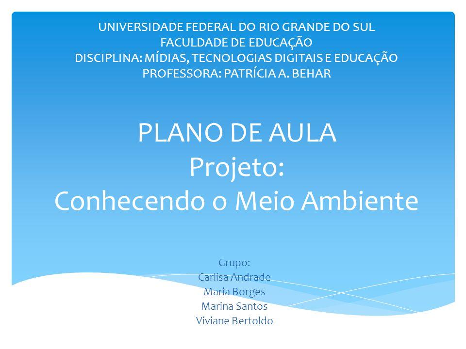 UNIVERSIDADE FEDERAL DO RIO GRANDE DO SUL FACULDADE DE EDUCAÇÃO DISCIPLINA: MÍDIAS, TECNOLOGIAS DIGITAIS E EDUCAÇÃO PROFESSORA: PATRÍCIA A.