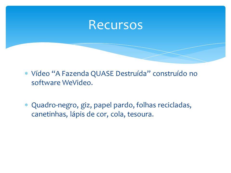 Vídeo A Fazenda QUASE Destruída construído no software WeVideo.