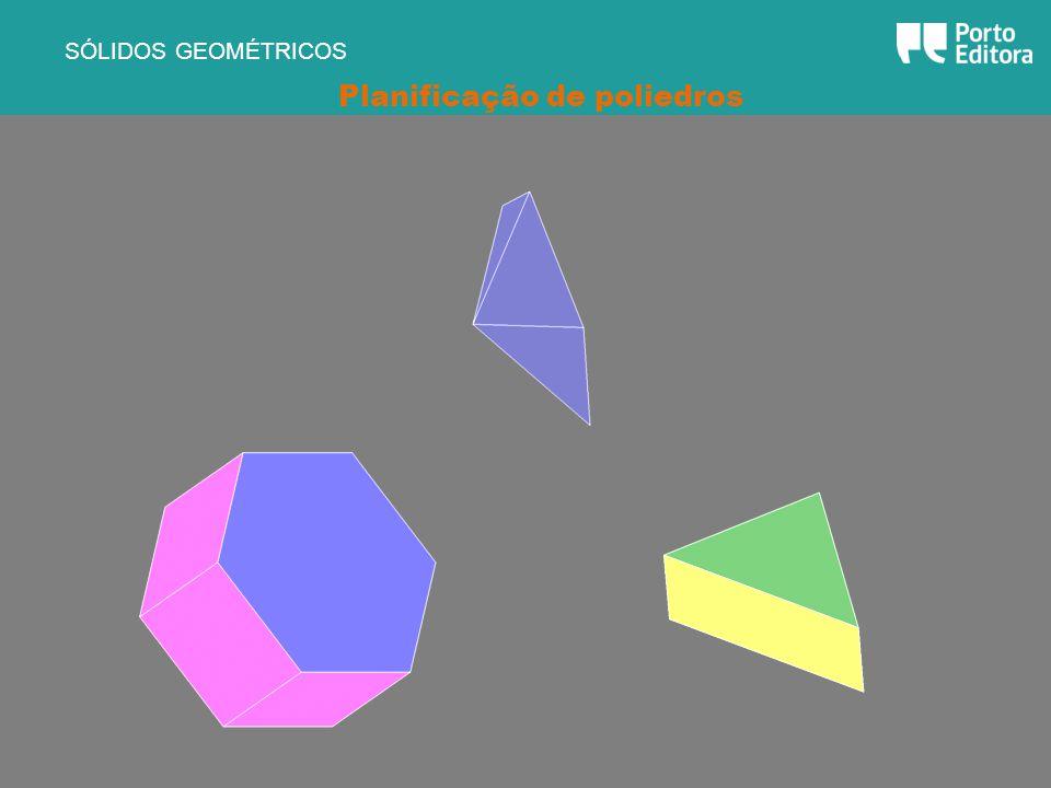 SÓLIDOS GEOMÉTRICOS Planificação de poliedros