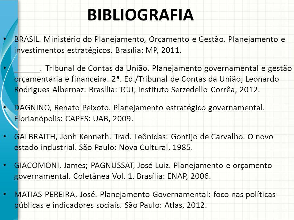 BIBLIOGRAFIA BRASIL.Ministério do Planejamento, Orçamento e Gestão.
