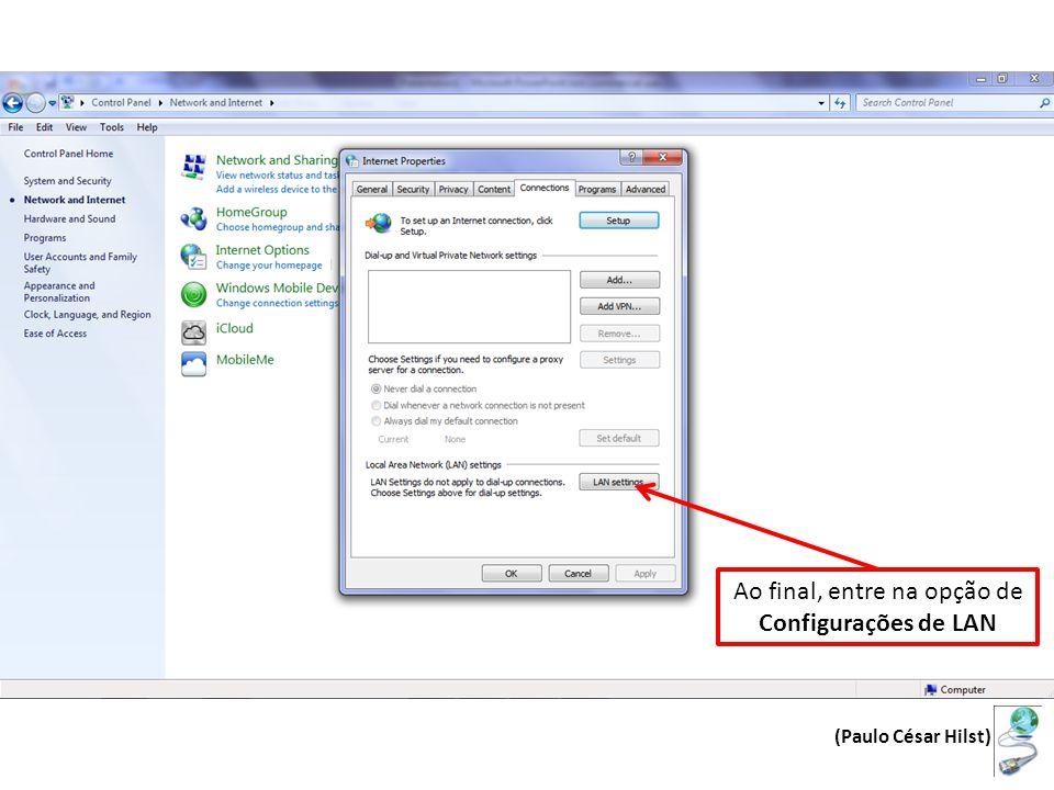 Em endereço entre com cache.ufv.br, e na opção Porta, entre com 3128 Selecione a opção para utilizar a o servidir Proxy, clicando na caixa de seleção Finalmente clique em OK para finalizar.