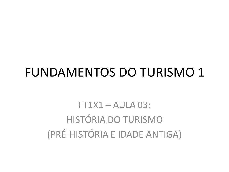 FUNDAMENTOS DO TURISMO 1 FT1X1 – AULA 03: HISTÓRIA DO TURISMO (PRÉ-HISTÓRIA E IDADE ANTIGA)