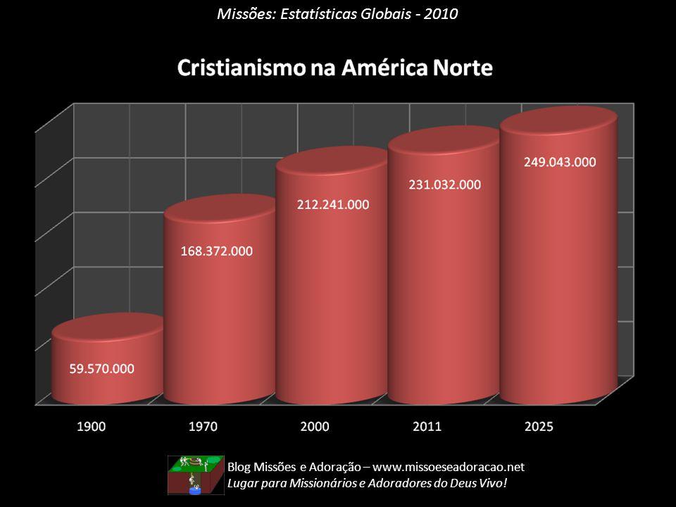 Missões: Estatísticas Globais - 2010 Blog Missões e Adoração – www.missoeseadoracao.net Lugar para Missionários e Adoradores do Deus Vivo!