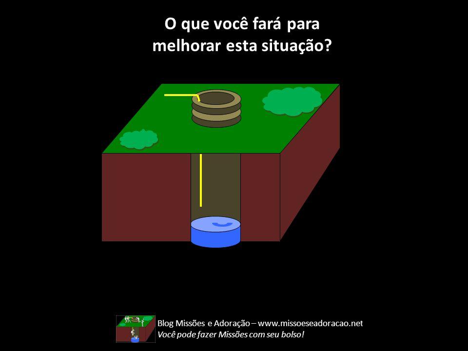 O que você fará para melhorar esta situação? Blog Missões e Adoração – www.missoeseadoracao.net Você pode fazer Missões com seu bolso! Perdidos Missio