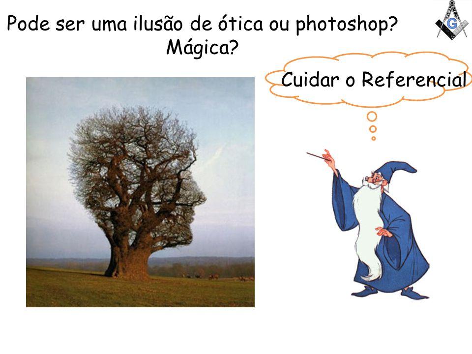 Pode ser uma ilusão de ótica ou photoshop? Mágica? Cuidar o Referencial