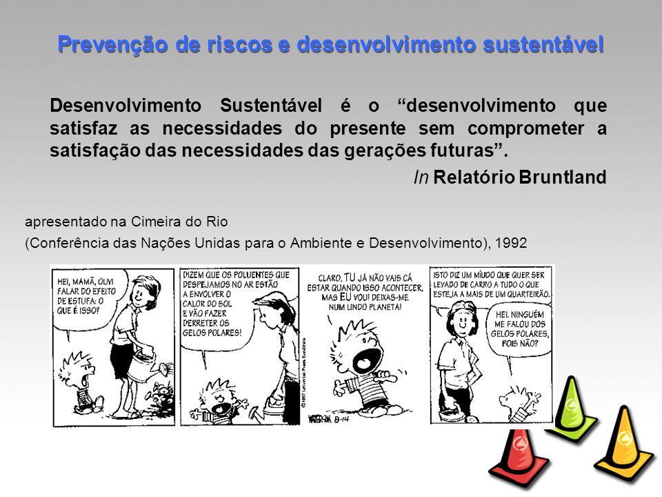 Desenvolvimento Sustentável é o desenvolvimento que satisfaz as necessidades do presente sem comprometer a satisfação das necessidades das gerações futuras.