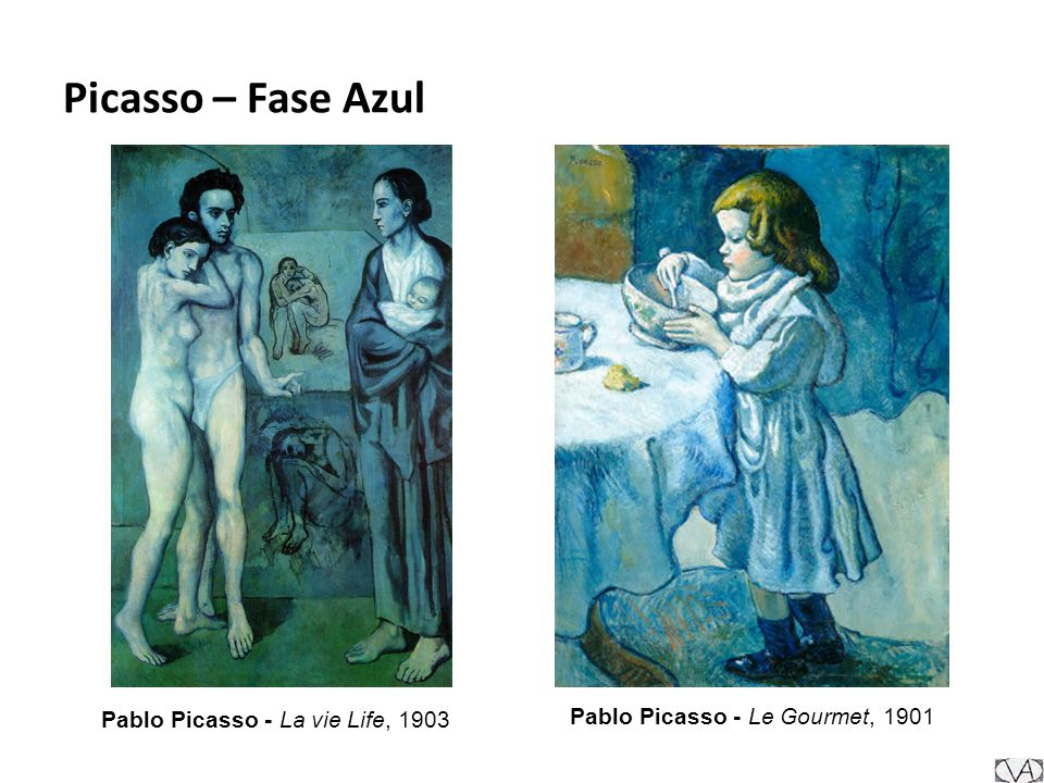Pablo Picasso - Le Gourmet, 1901 Pablo Picasso - La vie Life, 1903 Picasso – Fase Azul