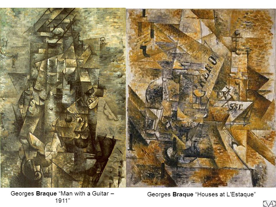 Georges Braque Man with a Guitar – 1911 Georges Braque Houses at L'Estaque