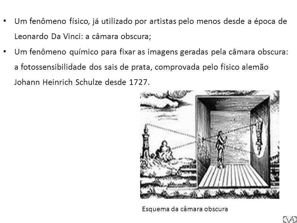 Niépce utilizou uma placa de estanho coberta com betume e produziu uma câmera que exigia cerca de oito horas de exposição à luz solar, invenção que batizou de heliografia.