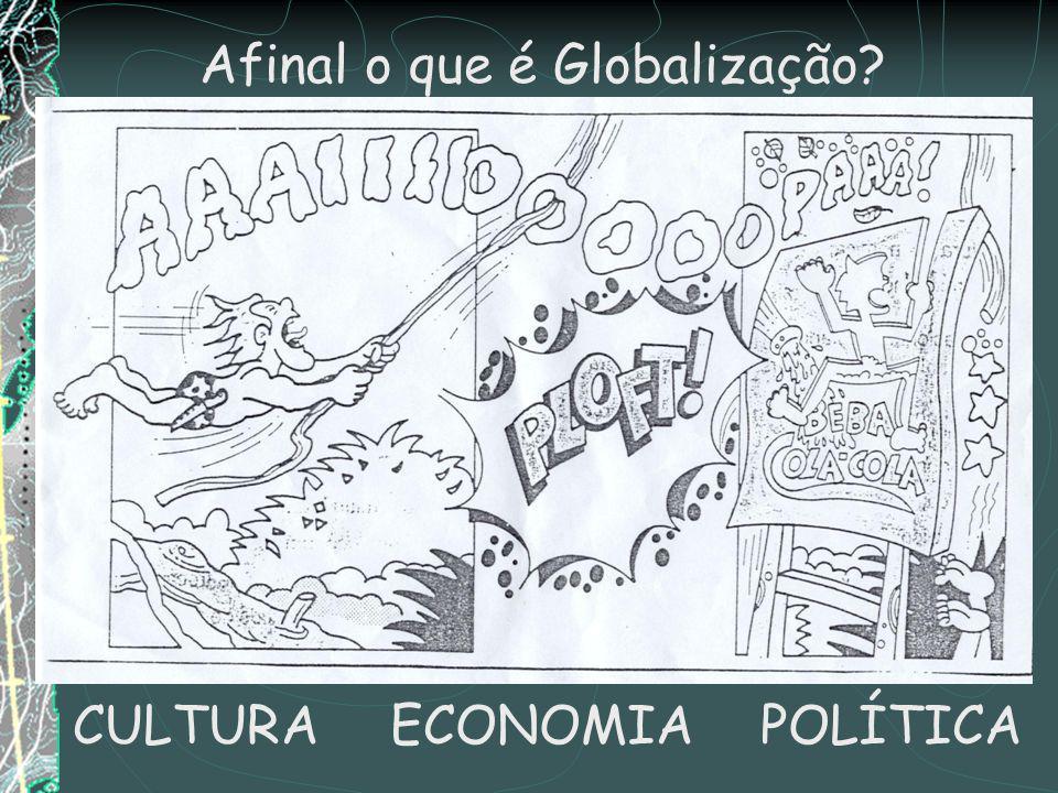 Afinal o que é Globalização? CULTURAECONOMIAPOLÍTICA