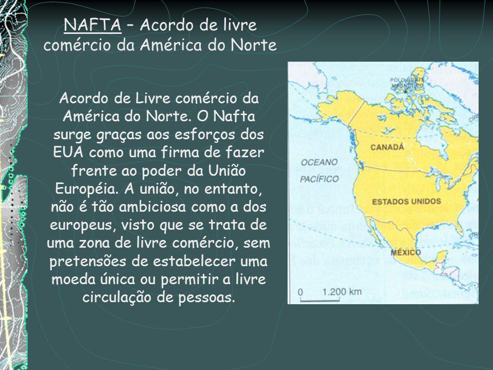 NAFTA – Acordo de livre comércio da América do Norte Acordo de Livre comércio da América do Norte.