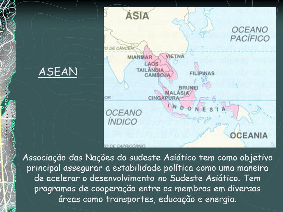 Associação das Nações do sudeste Asiático tem como objetivo principal assegurar a estabilidade política como uma maneira de acelerar o desenvolvimento no Sudeste Asiático.