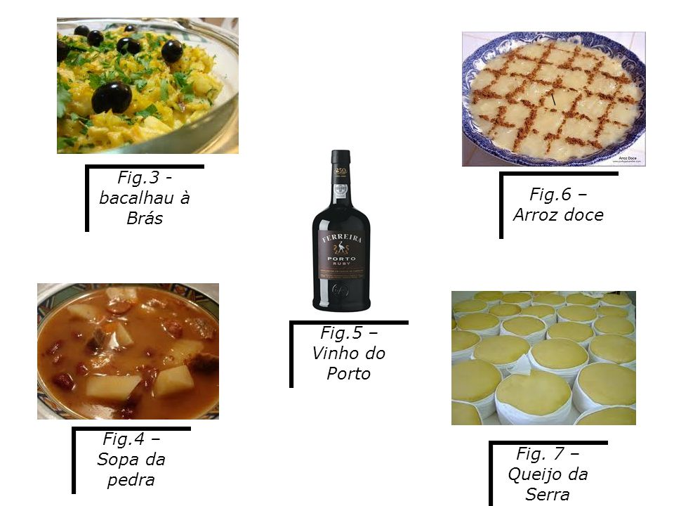 \ Fig.3 - bacalhau à Brás Fig.5 – Vinho do Porto Fig.4 – Sopa da pedra Fig.