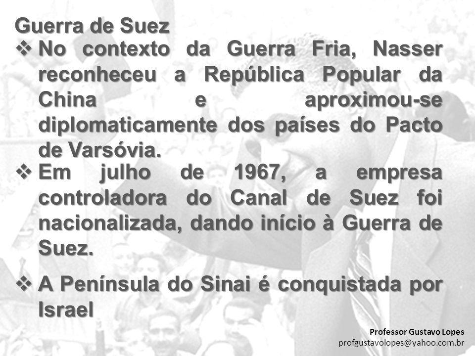 Guerra de Suez No contexto da Guerra Fria, Nasser reconheceu a República Popular da China e aproximou-se diplomaticamente dos países do Pacto de Varsó