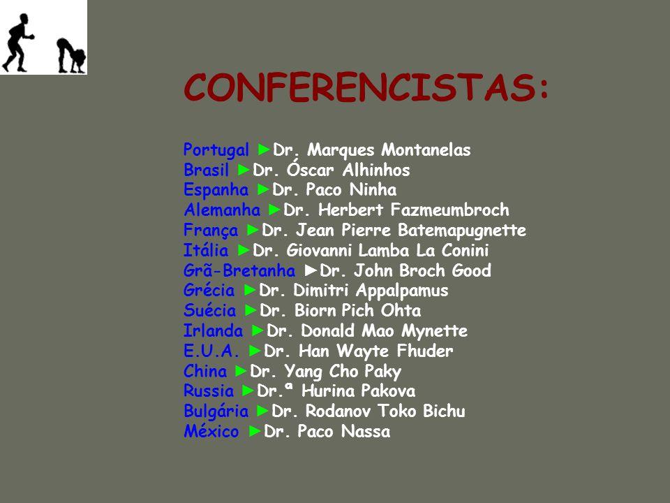 Portugal Dr.Marques Montanelas Brasil Dr. Óscar Alhinhos Espanha Dr.