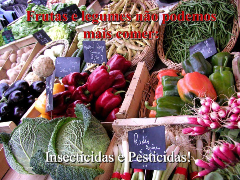 Frutas e legumes não podemos mais comer: Insecticidas e Pesticidas!