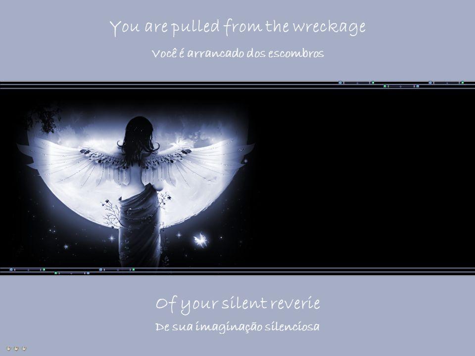 You are pulled from the wreckage Você é arrancado dos escombros Of your silent reverie De sua imaginação silenciosa
