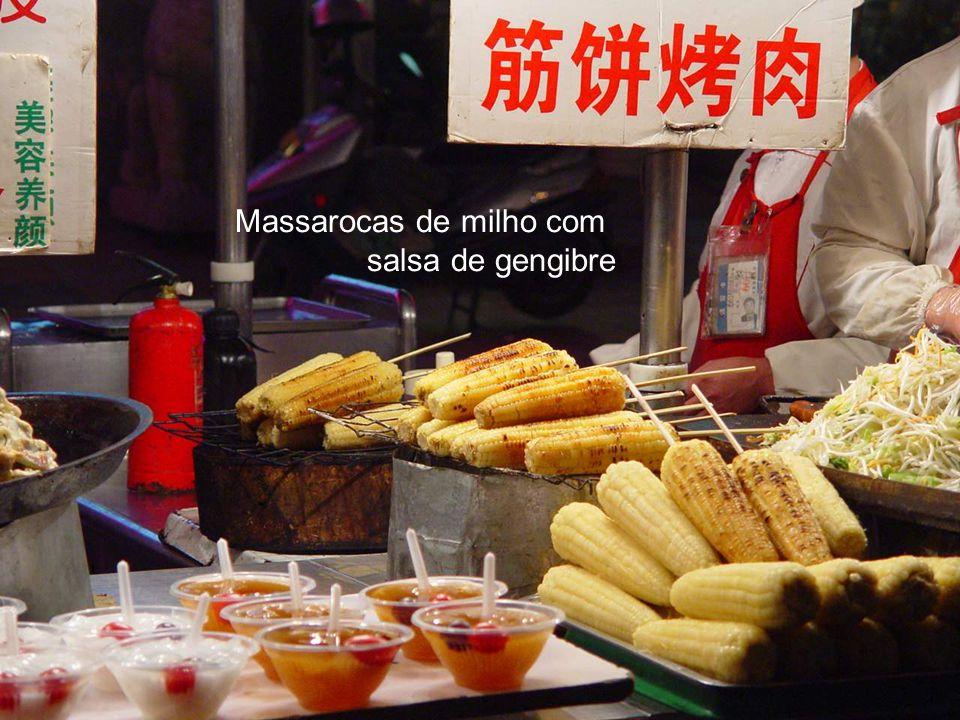 Massarocas de milho com salsa de gengibre