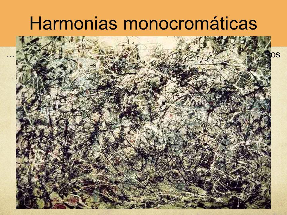Harmonias monocromáticas... ou de uma cor conjugada com cores neutras, como nos casos que se seguem de Rembrandt, Braques ou Pollock.