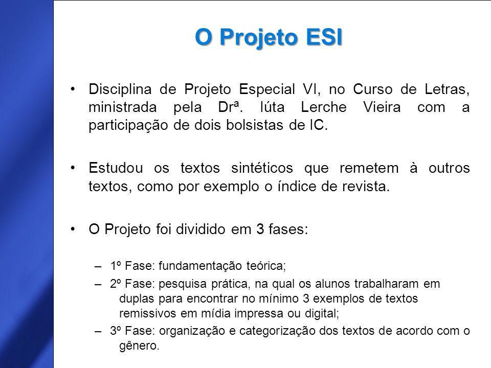 Free Template from www.brainybetty.com 3 Disciplina de Projeto Especial VI, no Curso de Letras, ministrada pela Drª.