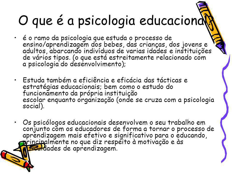 O que é a psicologia educacional.