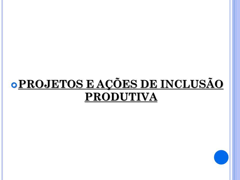 PROJETOS E AÇÕES DE INCLUSÃO PRODUTIVA PROJETOS E AÇÕES DE INCLUSÃO PRODUTIVA