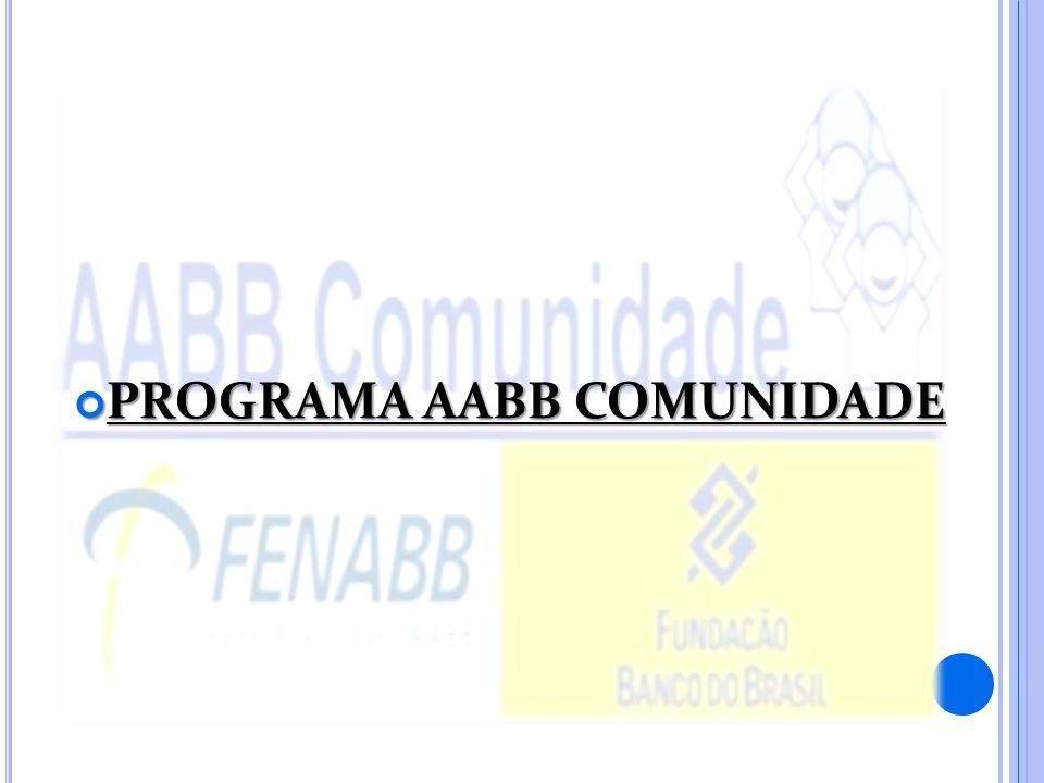 PROGRAMA AABB COMUNIDADE PROGRAMA AABB COMUNIDADE