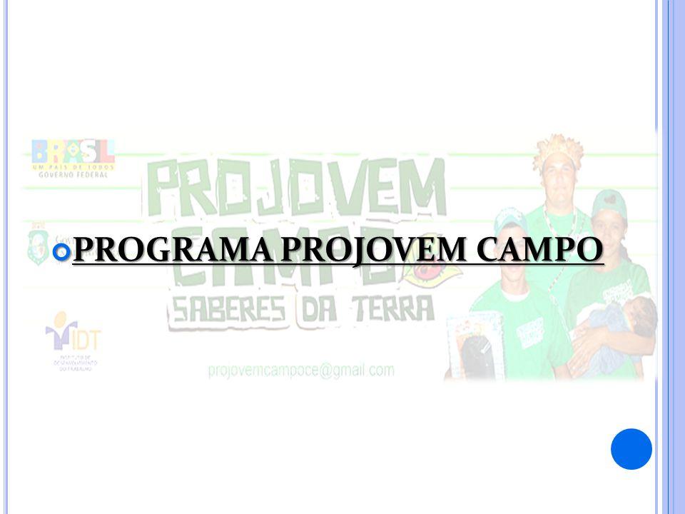 PROGRAMA PROJOVEM CAMPO PROGRAMA PROJOVEM CAMPO