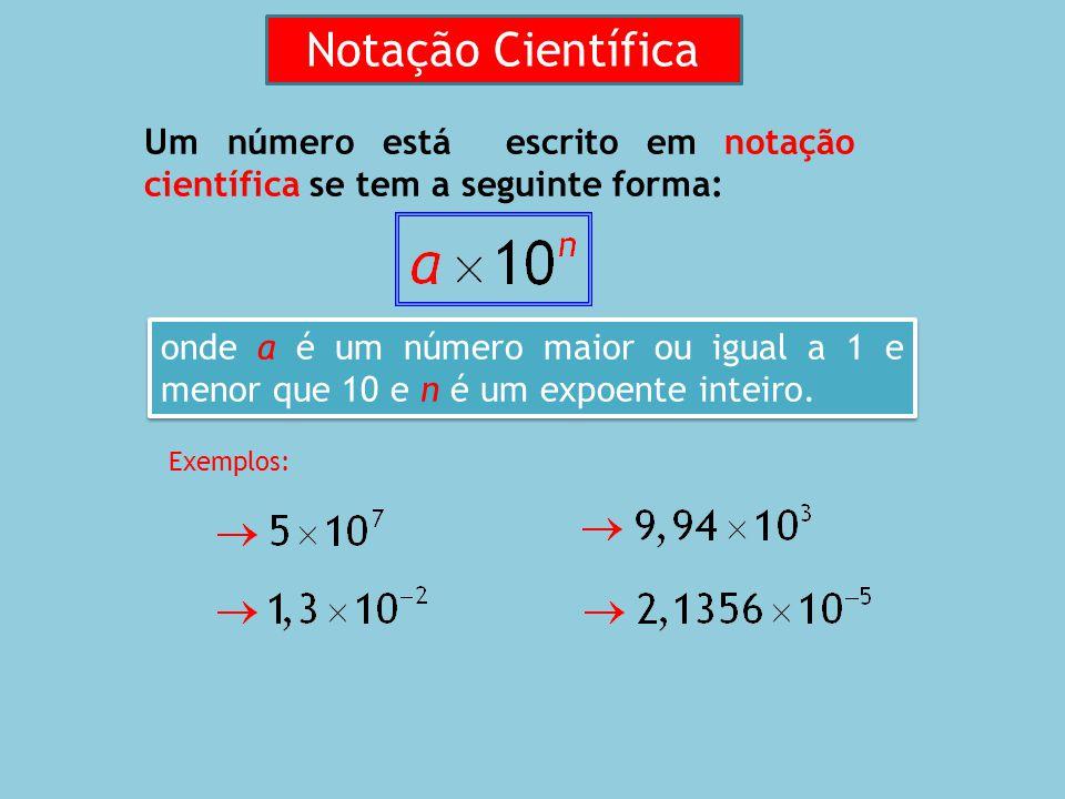A escrita de um número em notação científica permite escrever de forma mais abreviada números muito grandes ou muito pequenos e torna os cálculos mais rápidos e fáceis entre esses números.