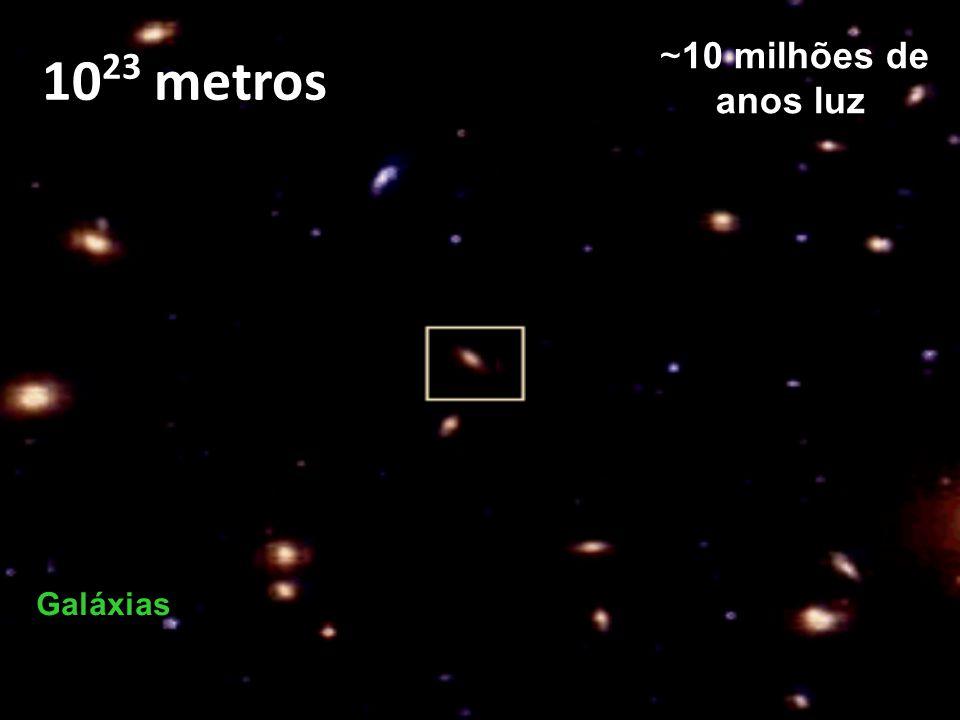 10 17 metros ~10 anos luz ou ~3 parsec Estrelas