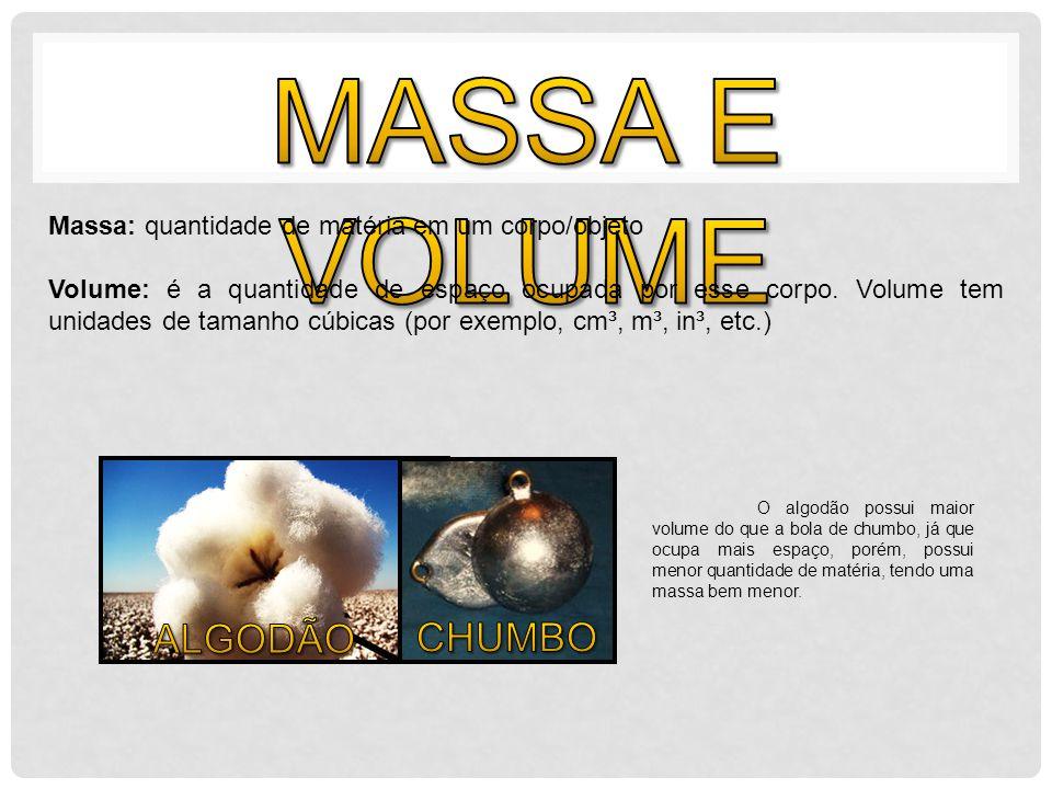 A densidade de um corpo define-se como a razão entre a massa e o volume desse corpo.