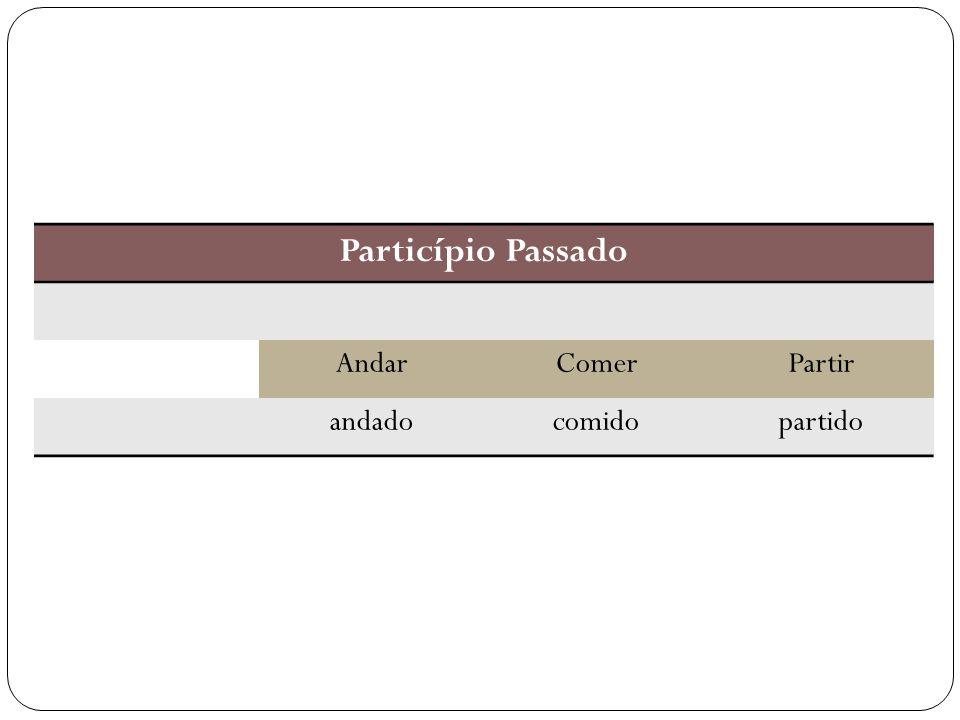 Particípio Passado AndarComerPartir andadocomidopartido