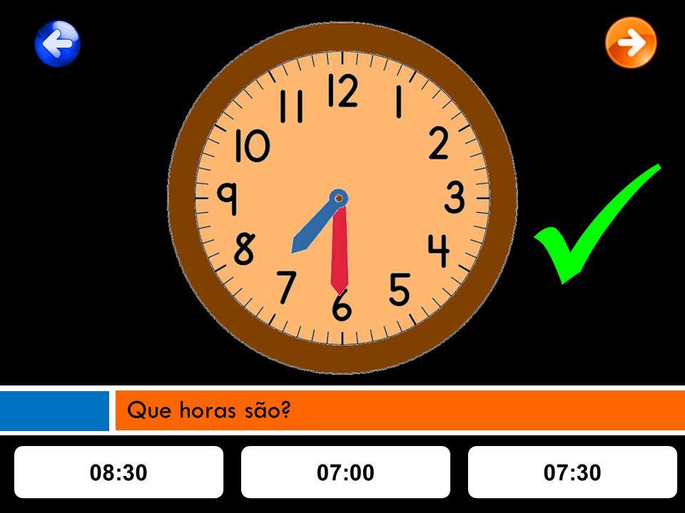 08:3007:3007:00 Que horas são