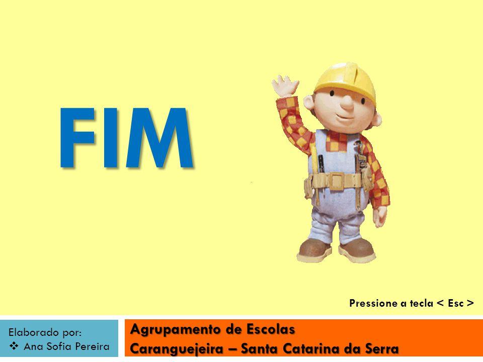Agrupamento de Escolas Caranguejeira – Santa Catarina da Serra Elaborado por: Ana Sofia Pereira FIM Pressione a tecla