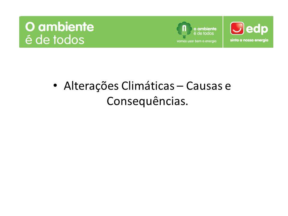 Alterações Climáticas – Causas e Consequências.