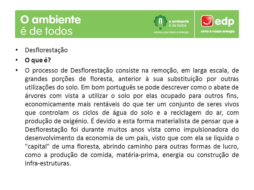 Desflorestação O que é.