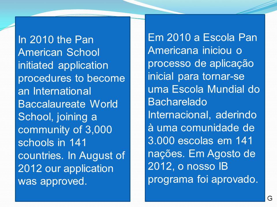 Why adopt the IB program? Por Que? G