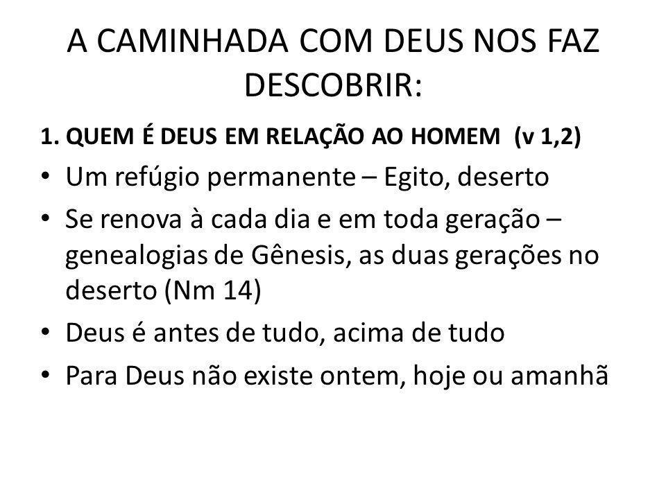 A CAMINHADA COM DEUS NOS FAZ DESCOBRIR: 1.