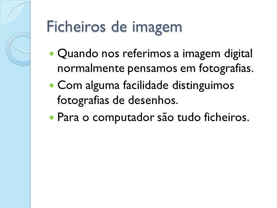 Formatos de ficheiros de imagem Nesta pasta das Minhas Imagens distinguem-se: Jpg gif png bmp e todas são imagens.