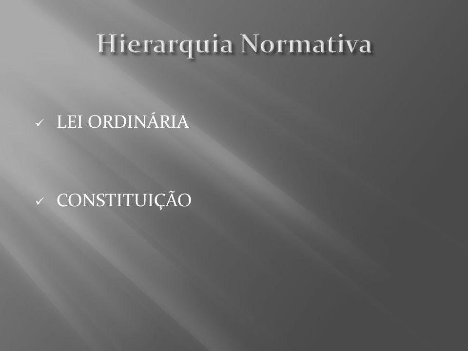 LEI ORDINÁRIA CONSTITUIÇÃO