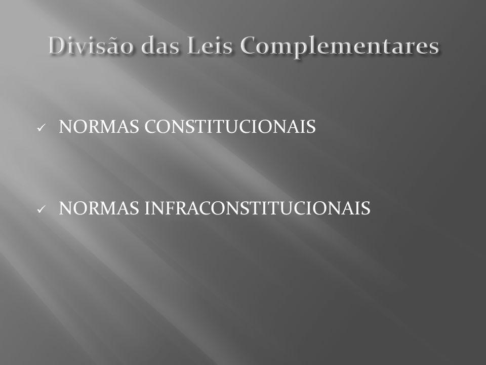 NORMAS CONSTITUCIONAIS NORMAS INFRACONSTITUCIONAIS