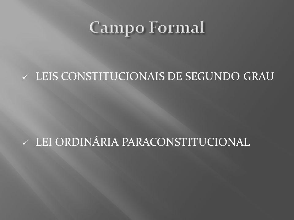 LEIS CONSTITUCIONAIS DE SEGUNDO GRAU LEI ORDINÁRIA PARACONSTITUCIONAL
