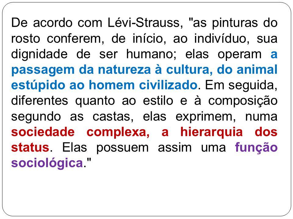 De acordo com Lévi Strauss,