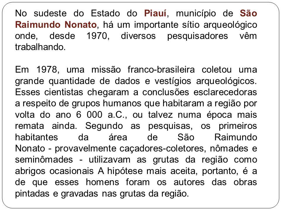 No sudeste do Estado do Piauí, município de São Raimundo Nonato, há um importante sítio arqueológico onde, desde 1970, diversos pesquisadores vêm trab