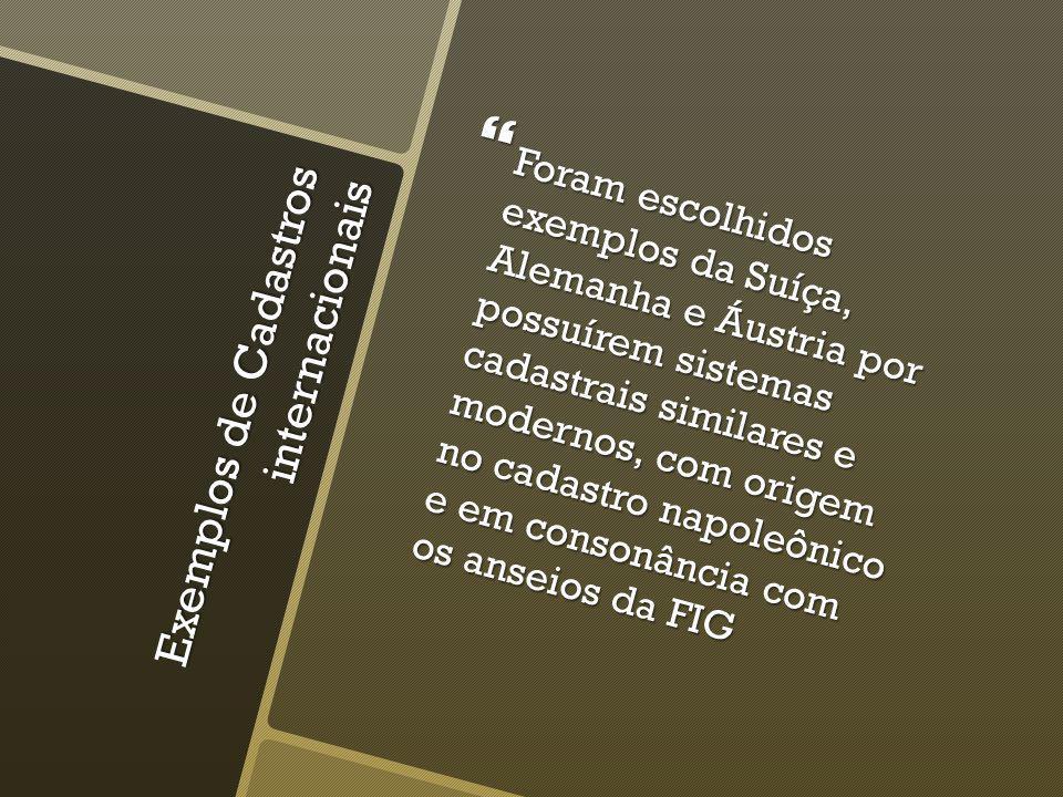 ARGENTINA O cadastro argentino é desenvolvido em âmbito nacional, fixado pela Lei Nacional de Cadastro n° 26.209 (2007), cuja principal função é dar garantia geométrica aos limites dos bens imóveis junto com o RI.