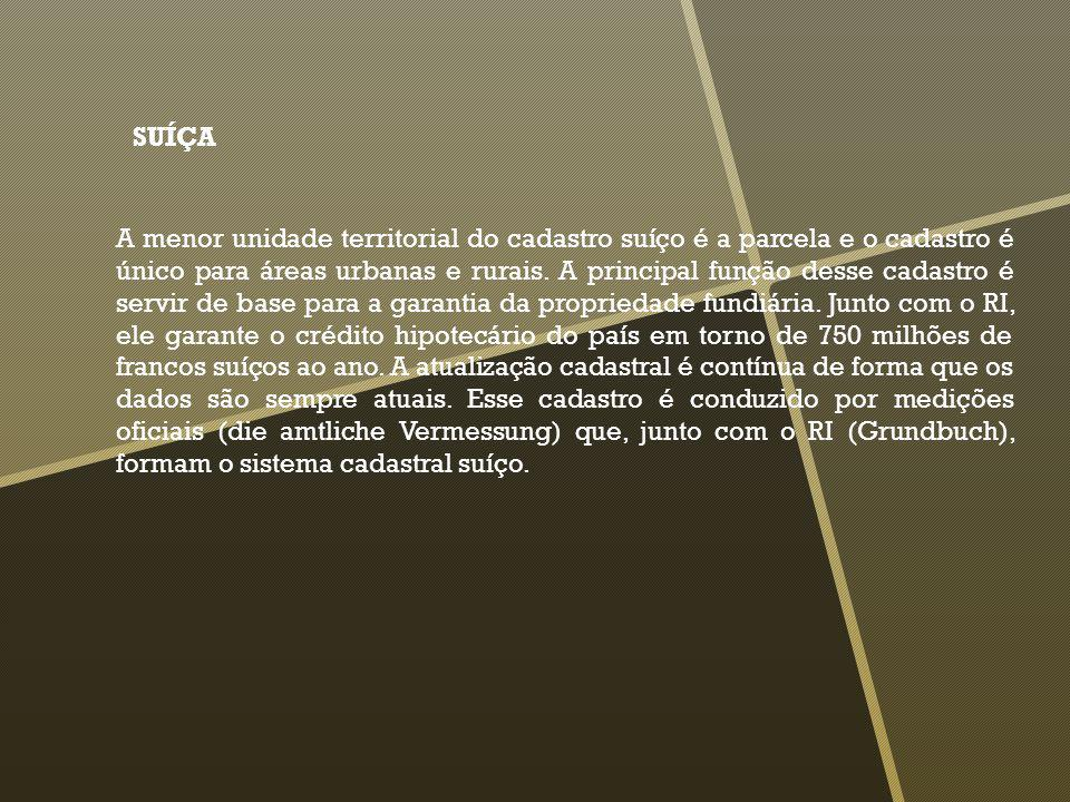 A Carta Cadastral Suíça produto de um levantamento cadastral sistemático, é estruturada em forma de um sistema de informações territoriais.
