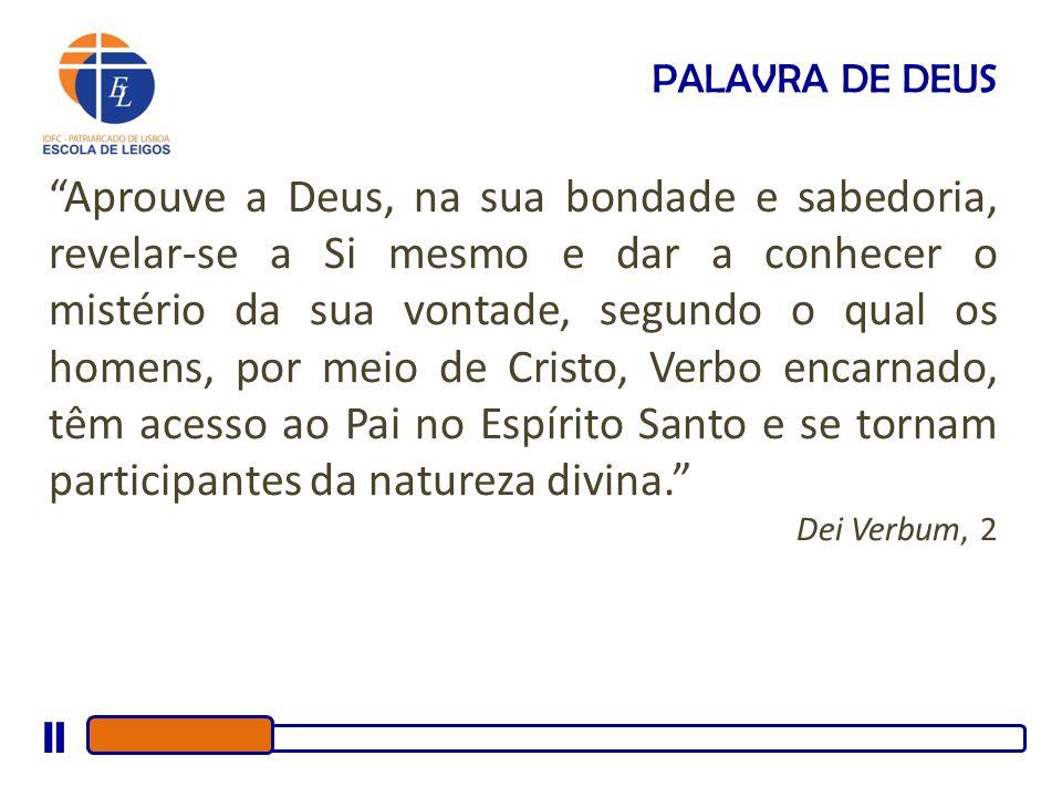 A Sagrada Escritura tornou-se mediação da relação da Palavra de Deus com a história humana.