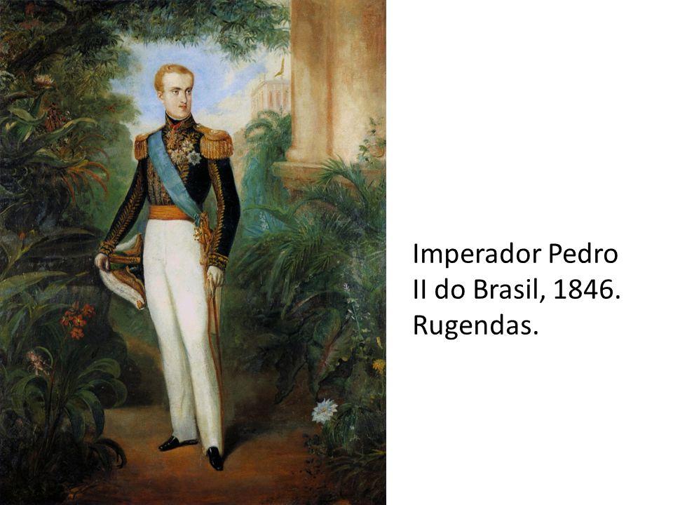 Imperador Pedro II do Brasil, 1846. Rugendas.