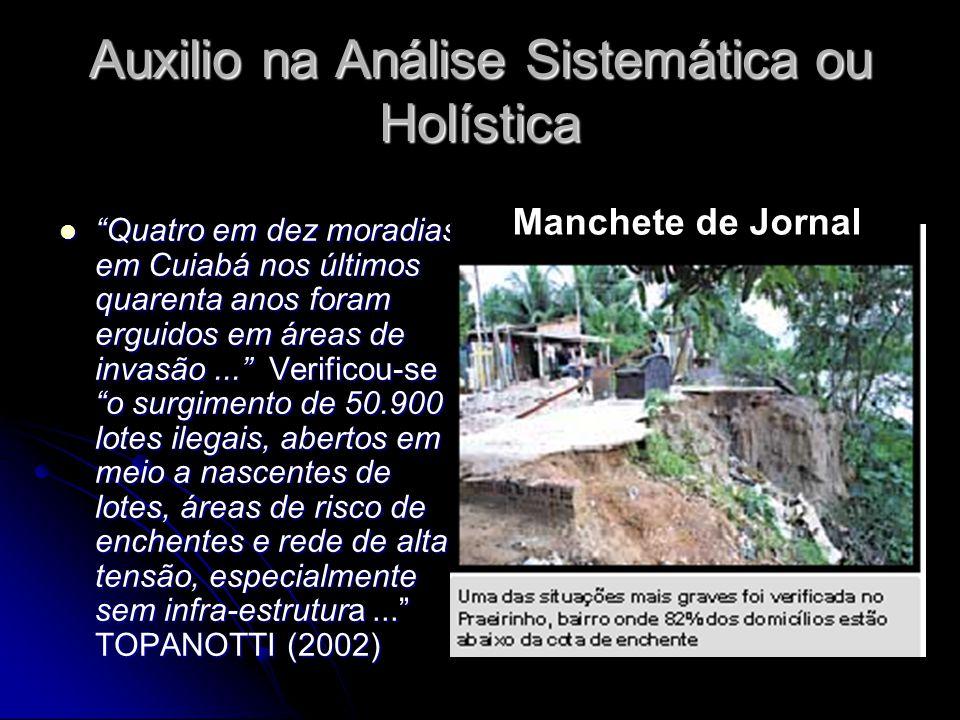 Auxilio na Análise Sistemática ou Holística Quatro em dez moradias em Cuiabá nos últimos quarenta anos foram erguidos em áreas de invasão... Verificou